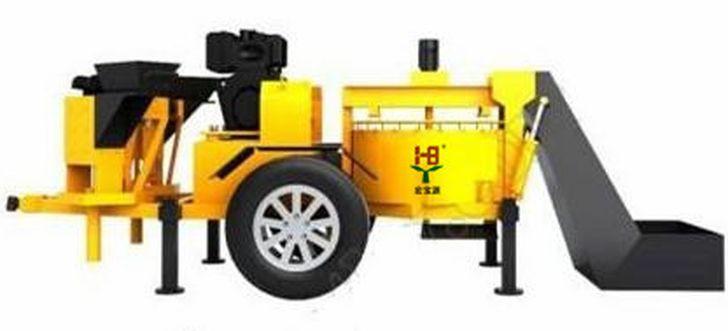полуавтоматический станок для кирпича Лего