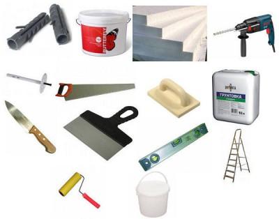 инструменты для утепления кирпичной стены