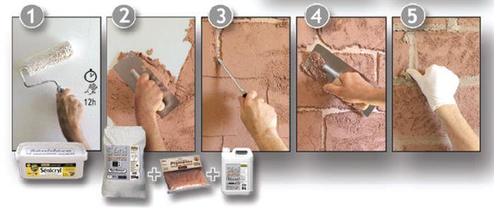 Как сделать шершавые стене 195