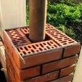 Сооружение столба из кирпича