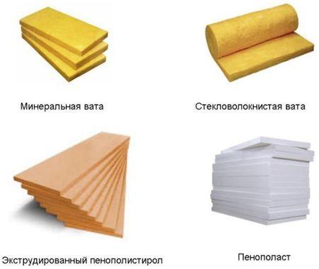 материалы для утепления