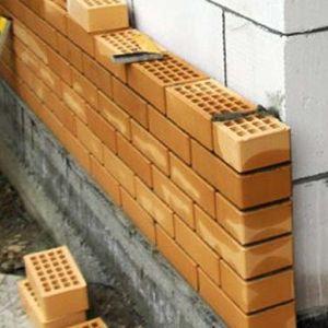 отделка наружных стен облицовочным кирпичом