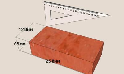 Размеры печного кирпича